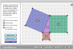 Geoboard: The Pythagorean Theorem Gizmo