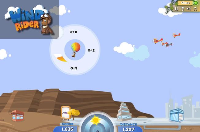 Wind Rider Reflex Game