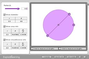 Gizmo of the Week: Circumference and Area of Circles ...